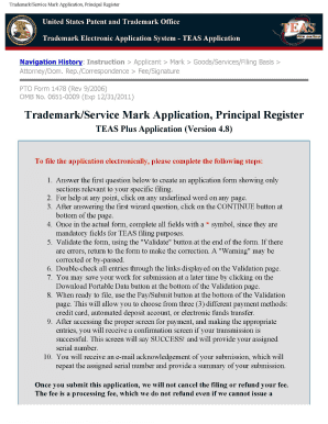 Teas Fillable Trademark Application Fill Online Printable