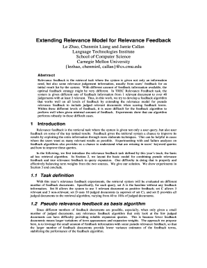 Extending Relevance Model for Relevance Feedback - trec nist