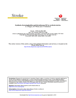 Synthesis of Prostaglandins and Thromboxane B2 by ... - Stroke - stroke ahajournals