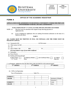 busitema university application forms