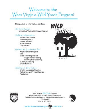 Welcome to the West Virginia Wild Yards Program! - wvdnr