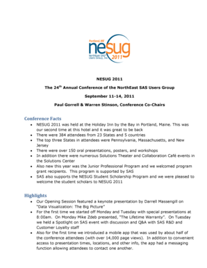 Conference Facts Highlights - nesug