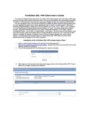 Forticlient Ssl Vpn Client User Guide - Fill Online