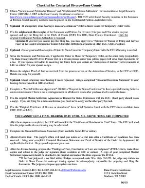 21 Printable Marital Settlement Agreement Checklist Forms