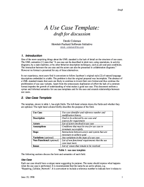 A Use Case Template: