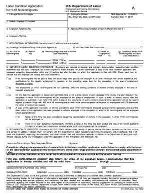 Eta Form 9142 For H1b - Fill Online, Printable, Fillable, Blank ...
