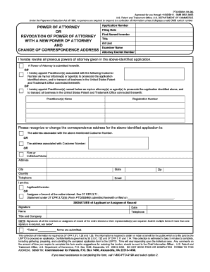 power of attorney form uspto  8 Printable Uspto Power Of Attorney Revocation Form ...