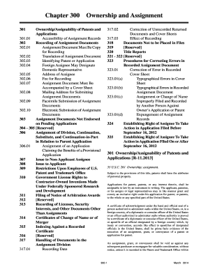 MPEP - Chapter 0300 - Ownership and Assignment. MANUAL OF PATENT EXAMINING PROCEDURE - uspto