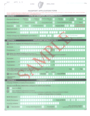 Aps 1e Passport Application Form Download - Fill Online, Printable ...