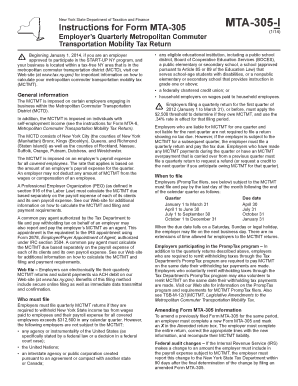 Form Mta 305 - Fill Online, Printable, Fillable, Blank   PDFfiller