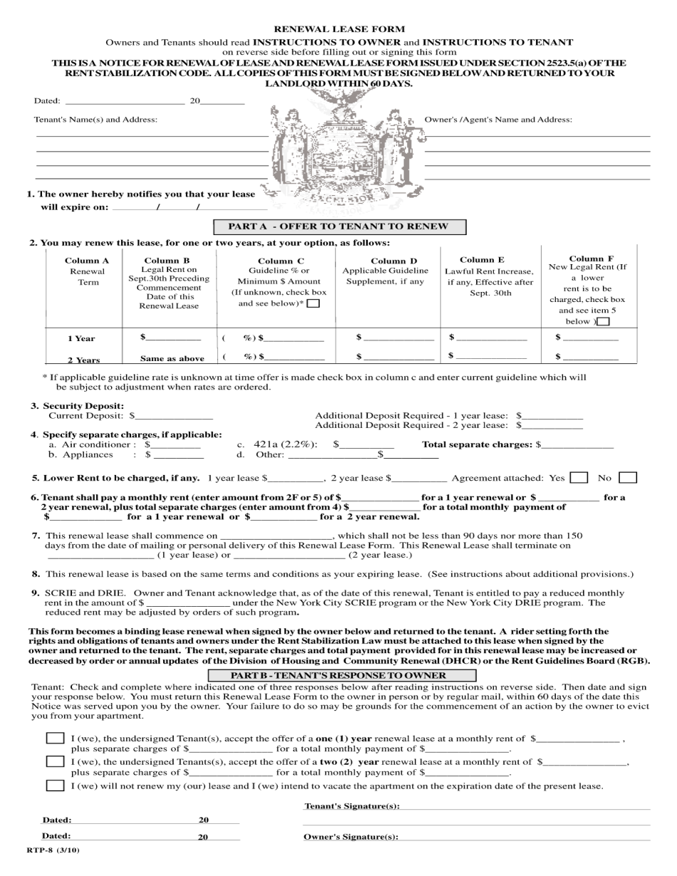 nys section 8 landlord requirements - Fill Online ...