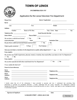 305155 Volunteer Fire Department Application Forms on volunteer library application, volunteer fire company, fire department job application, volunteer fire recruit,