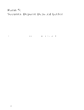 sample demand letter for the return of my security deposit form