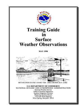 training guide in surface weather observations