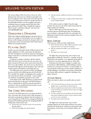 d&d core mechanic pdf form