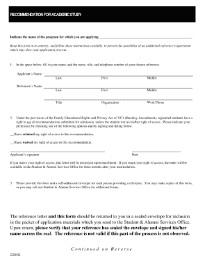 fill in the blanks for recommendation letters format