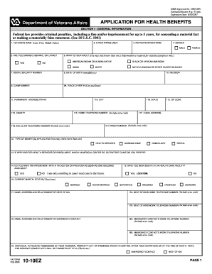 1010ez Form Online - Fill Online, Printable, Fillable, Blank ...