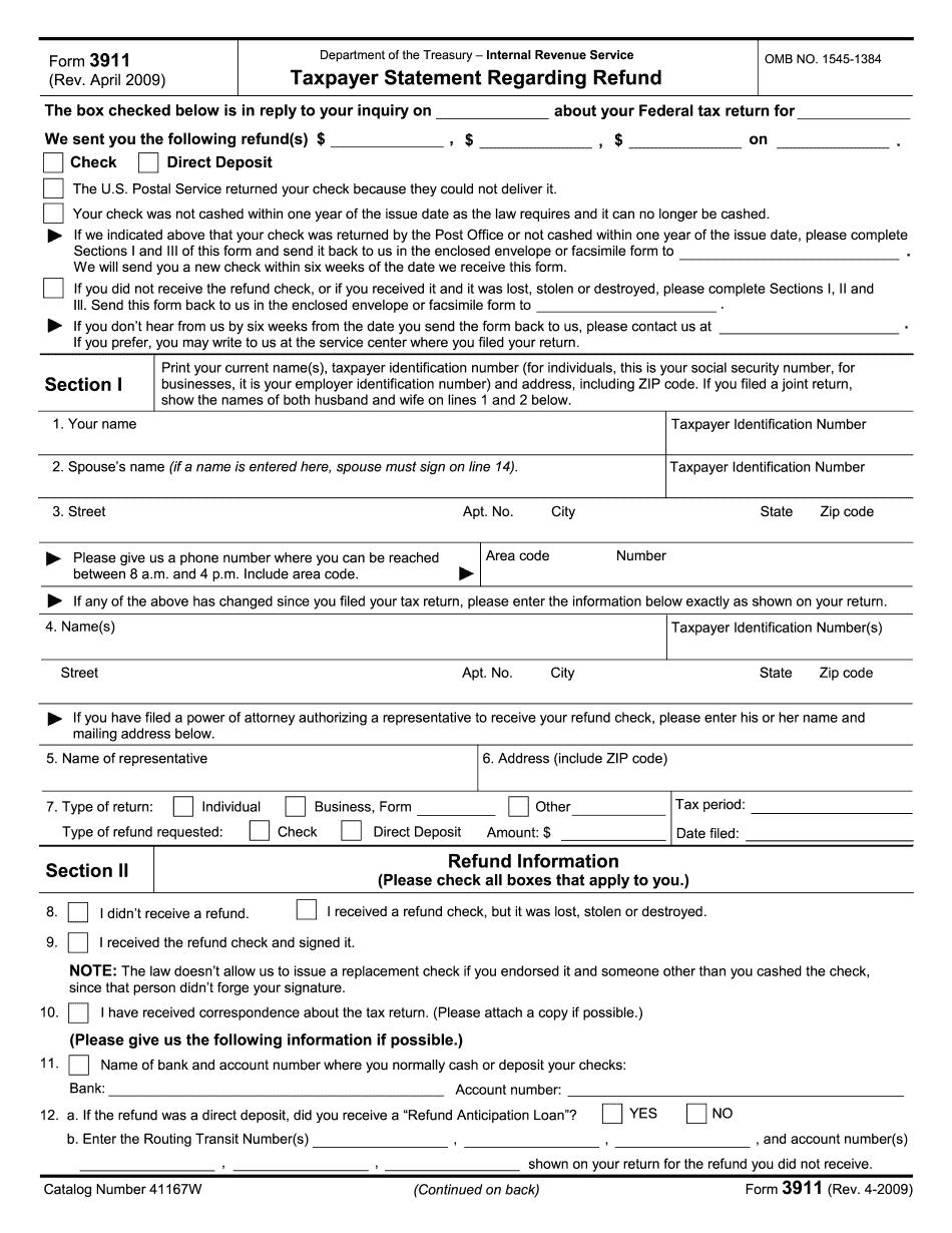 Form 3911