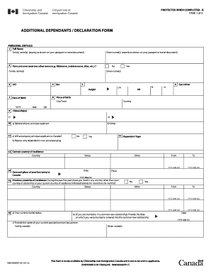 additional dependantsdeclaration form imm 0008dep