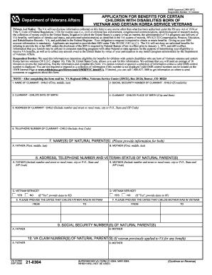 Form 21 0304 - Fill Online, Printable, Fillable, Blank | PDFfiller
