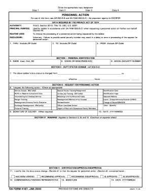 da form 4187 jan 2000 fillable