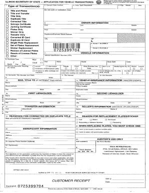 Illinois Vsd 190 Formpdffillercom Fill Online Printable Fillable Blank Pdffiller