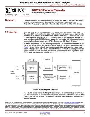 64b 66b Encoder - Fill Online, Printable, Fillable, Blank