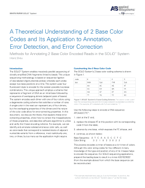 a theoretical understanding of 2 base color codes and its application to annotation error detection and error correction form