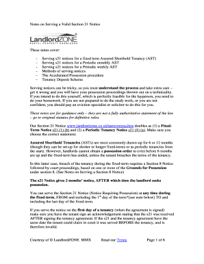 Section 21 Notice Form Free Fillable - Fill Online, Printable ...