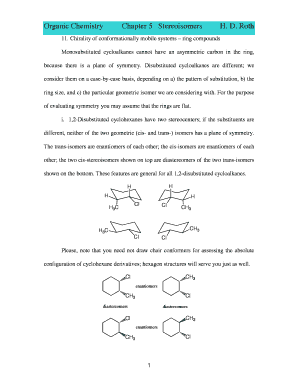 H D Roth Organic Chemistry - Fill Online, Printable