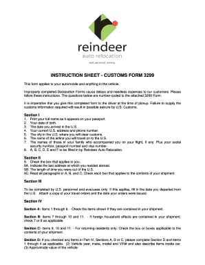 Customs Form 3299 Printable Sheet - Fill Online, Printable ...