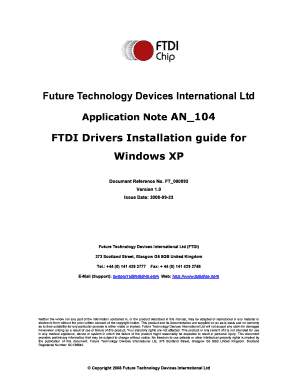 Ftdi Drivers Installation Guide For Windows Xp Document