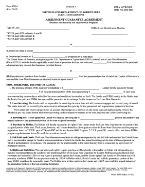 assignment guaranty agreement form