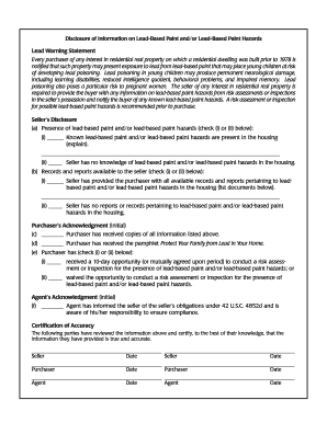 Bill Of Sale Form Georgia Lead Based Paint Disclosure Form ...