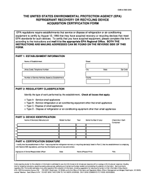 epa refrigerant form Fill Online, Printable, Fillable, Blank ...