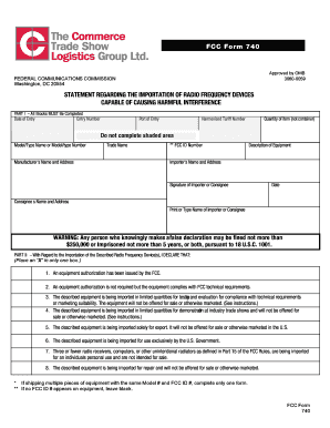 Fcc Form 740 Fillable - Fill Online, Printable, Fillable, Blank ...