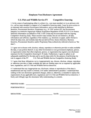 17 Printable Employee Non Disclosure Agreement Forms And