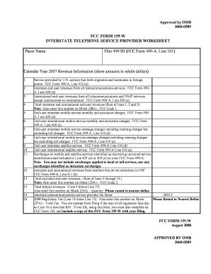 Fcc Form 159 W - Fill Online, Printable, Fillable, Blank | PDFfiller