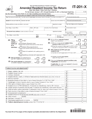 2011 Form NY DTF IT-201-X Fill Online, Printable, Fillable, Blank ...