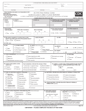 Case Report Form Examples Fill Online Printable