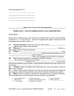 High Quality South Dakota Mortgage Form