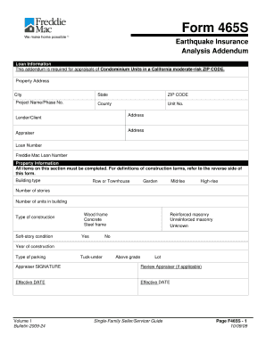 detailed insurance analysis form