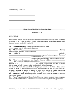 blank mortgage document fill online printable fillable With blank mortgage document