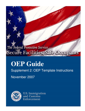 Federal oep guide 2015 fill online printable fillable for Occupant emergency plan template