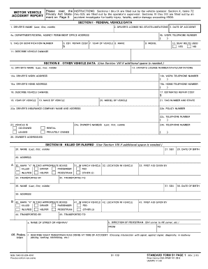 1993 form gsa sf 91 fill online printable fillable for Motor vehicle reports online