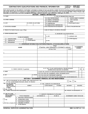 Gsa Form 527 Fillable - Fill Online, Printable, Fillable, Blank ...