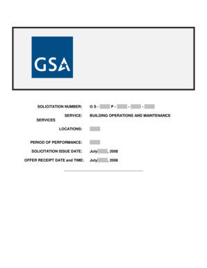 Remove this section when finished with Statement of Work - GSA - gsa
