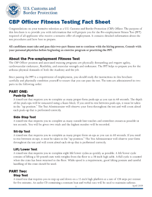 cbp fitness fact sheet form