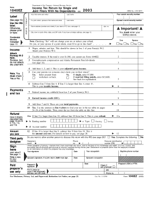 Fillable 2004 form 1040ez fill online printable for 1040 form 2011 tax table