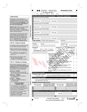 Us customs declaration form 6059b